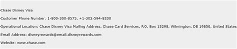 Card company signed my husband up for payment protection which he never approved. Chase Disney Visa Contact Number | Chase Disney Visa Customer Service Number | Chase Disney Visa ...