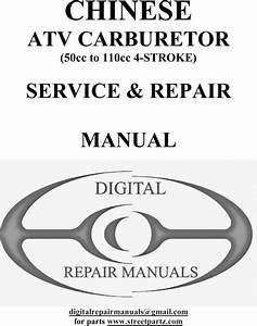 Chinese Atv 50cc To 110cc Carburetor Repair Manual