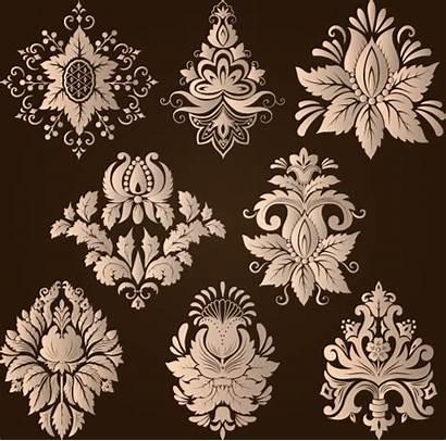Damask Floral Vector Ornamental Elements Eps Graphic