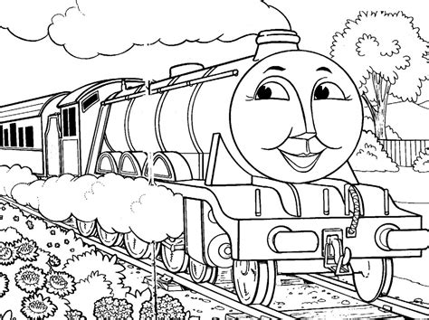 simple thomas  train coloring pages coloring pages