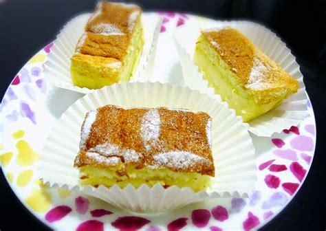 chocs cheeze magic custard cake  lemon magic