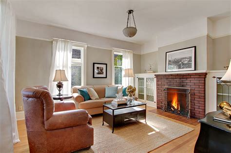 Popular Living Room Colors Benjamin Moore by University Bungalow Living Room Traditional Living