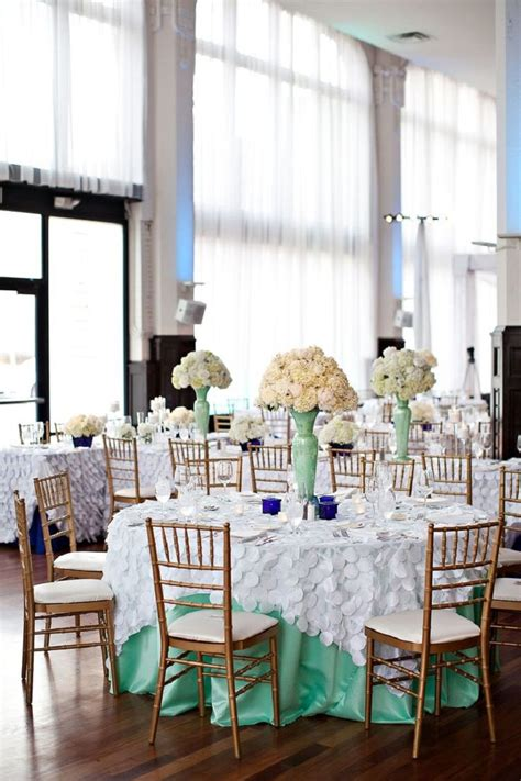 Mint Green And White Wedding ~ We This