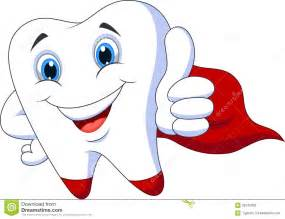 Tooth Super Hero Clip Art