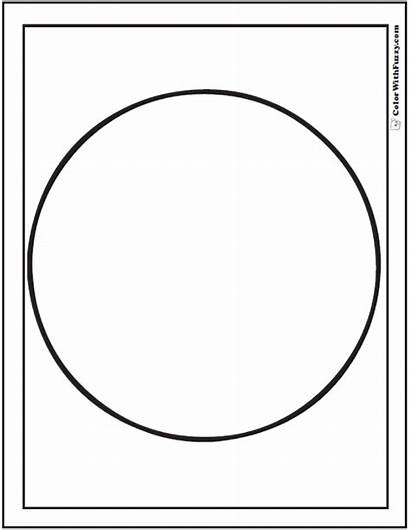 Coloring Shape Printable Pages Circle 3d Circles