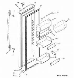 Assembly View For Fresh Food Door