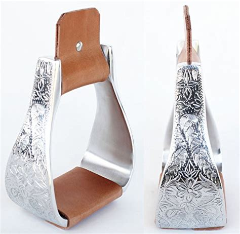 stirrups saddle stirrup prorider carved aluminum western horse advices expert wide check leather