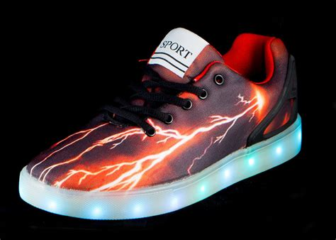 kids sneakers with lights big kids led light up shoes pulsar black red cheap sale