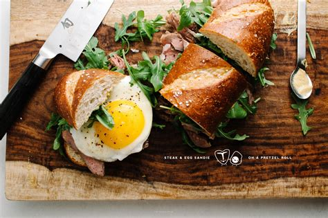 steak  egg sandwich recipe    food blog