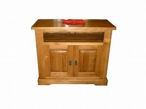 Meuble Tv Rustique : meuble tv en bois massif perrine ~ Teatrodelosmanantiales.com Idées de Décoration