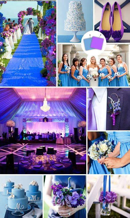 40 best purple and blue wedding ideas images on pinterest