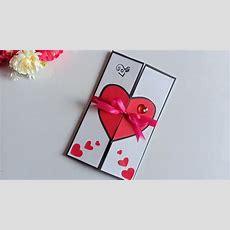 Beautiful Handmade Valentine's Day Card Idea  Diy Greeting Cards For Valentine's Day Card