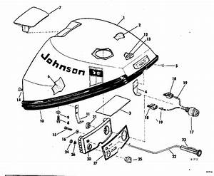 Johnson Motor Cover Group Parts For 1969 9 5hp 9r69s