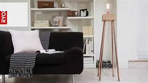 Lampe De Salon Design Sur Pied : fabriquer un lampadaire en bois youtube ~ Melissatoandfro.com Idées de Décoration