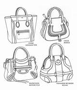 Bag Drawing Drawings Bags Purses Sketches Illustration Handbag Designer Handbags Designs Purse Sketch Leather Famous Template Illustrations Flat Rourke Emily sketch template