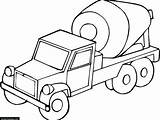 Cement Truck Coloring Drawing Mixer Printable Concrete Getdrawings Getcolorings Clipartmag sketch template