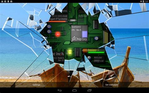 Cracked Screen Gyro 3D Parallax Wallpaper HD Android