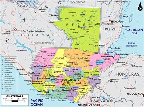 map  guatemala south america maps map pictures