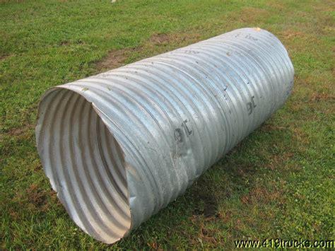 Corrugated Steel Culvert Ditch Pipe 28 Inch Diameter X 5
