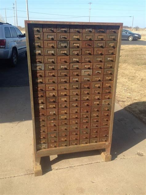parts cabinet with drawers vintage 133 drawer addressograph metal industrial small