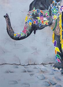 The gallery for --> Colorful Elephant Drawing