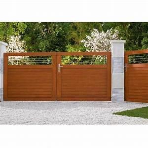 Lapeyre Portail Bois : portail battant bois fontaine gamme confort les ~ Premium-room.com Idées de Décoration