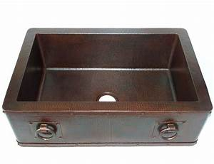 farmhouse with straight apron kitchen copper sink with With discount apron sink