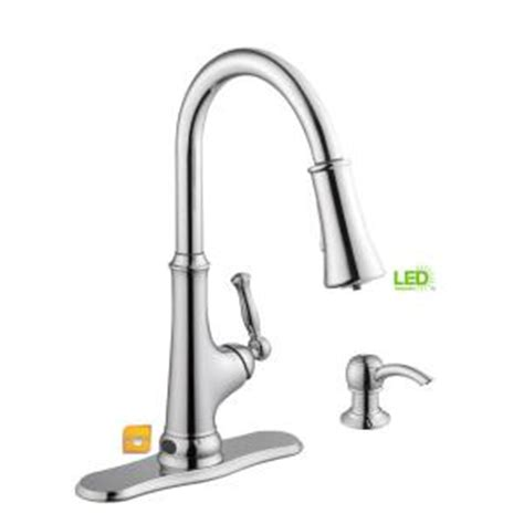 kitchen faucet with led light glacier bay touchless single handle pull sprayer 8063