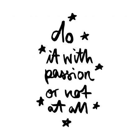 Formart Kunstdruck Do It With Passion A4 Online Kaufen