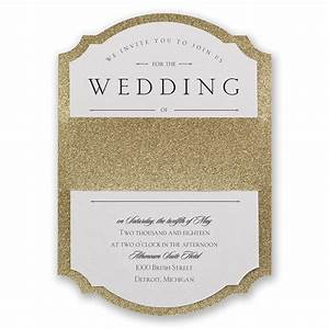 sparkling beauty real glitter invitation invitations by dawn With wedding invitations with gold wording