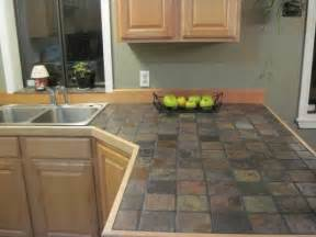 kitchen countertop tile ideas slate countertops designs