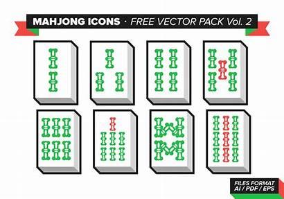 Mahjong Vector Icons Tiles Pack Vol Icon