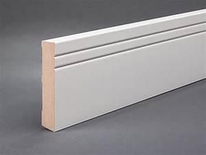 Fußleisten Weiß Holz : mdf 100x19 mm ohne folie profiliert mit 2 ziernuten fu leisten welt ~ Markanthonyermac.com Haus und Dekorationen