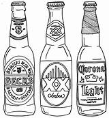 Beer Bottle Drawing Line Coloring Drawings Pages Alcohol Bottles Tattoo Tattoos Svg Google Drawn Printable Getdrawings Cool Projects Printables Expressions sketch template