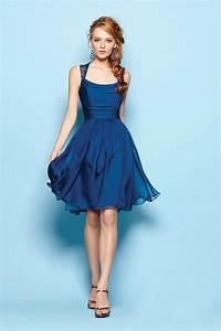 Short blue bridesmaid dresses kzdress for Blue cocktail dresses for wedding