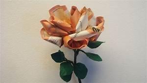 Geld Falten Blume Rose Anleitung : imposing geld falten blumen blume aus anleitung geschenke ~ Lizthompson.info Haus und Dekorationen