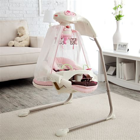 In Swing Baby by Fisher Price Butterfly Cradle Baby Swing Baby Swings At