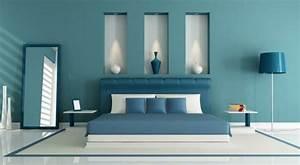 Idees Deco Chambre : 1001 id es pour une chambre bleu canard p trole et paon sublime ~ Melissatoandfro.com Idées de Décoration