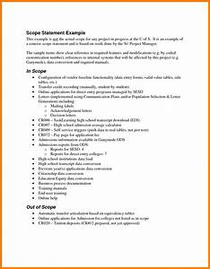 sample scope document template - 5 project scope statement example case statement 2017