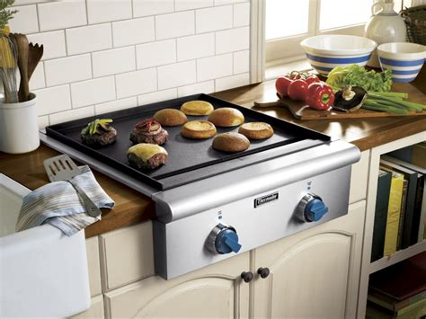 griddle electric cooktop thermador inch surface burner gas professional ajmadison outside rust stick non burners