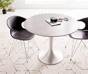 Esstisch Rund Grau : esstisch charo 100x100 grau rund beton gestell aluminium m bel tische esstische ~ Eleganceandgraceweddings.com Haus und Dekorationen
