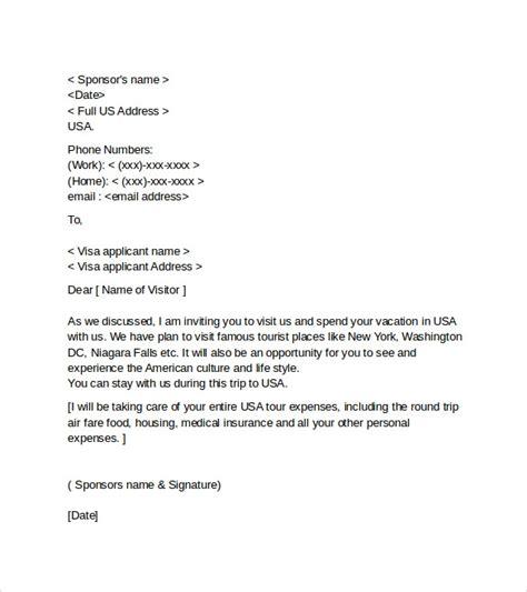 sample visa invitation letters  word