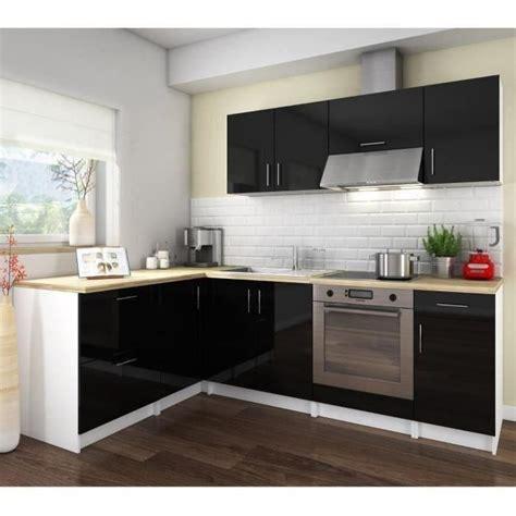 cosy cuisine cosy cuisine complète 2m80 laqué noir achat vente