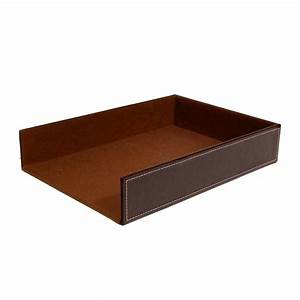 roosevelt round faux leather serving tray the lucky clover With leather document tray