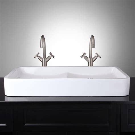 small bathroom vessel sinks this is it i love the double sink for a small master