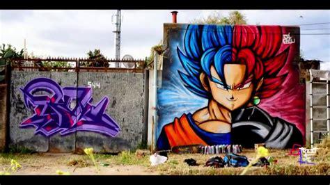 Graffiti Vs : Goku & Black Goku Graffiti Speed Drawing The World Of Flee