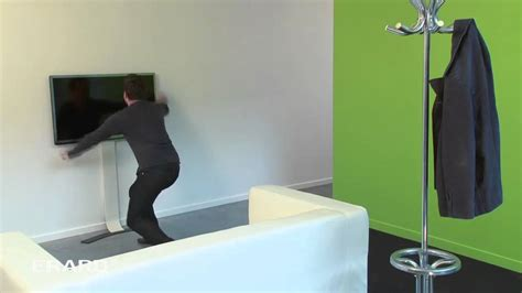 comment cacher les fils tv murale un support tv mural sans percer erard standit