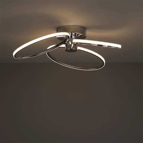 jago led chrome effect 3 l ceiling light departments