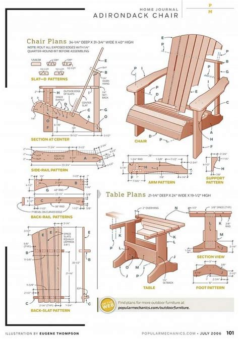 free diy adirondack chair plans for the home