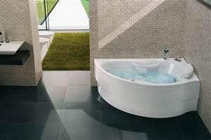 Baignoire A Poser : baignoire poser d 39 angle baln o hera blu bleu salle ~ Edinachiropracticcenter.com Idées de Décoration